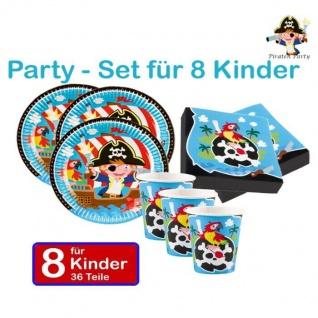 Piraten Seeräuber Set 8 KINDER GEBURTSTAG Party Teller Becher Servietten