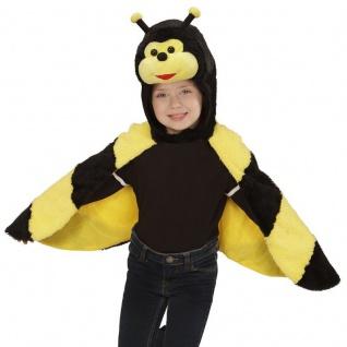 BIENE PLÜSCH CAPE Kinder Kostüm für 2 - 4 Jahre Umhang Karneval Fasching #7435