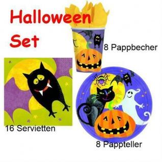 Halloween Gruesome Group Party Tisch Set , Becher Teller & Servietten