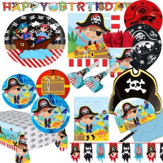 KLEINER PIRAT Party Deko - Alles zum Kinder Geburtstag - little Pirates Piraten