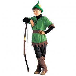 Bogenschütze Robin Hood Kinder Kostüm König der Diebe Räuber Jungenkostüm