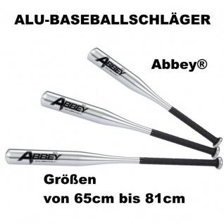 Abbey Alu-Baseballschläger Aluminium Baseball Schläger von 65 bis 81cm AUSWAHL