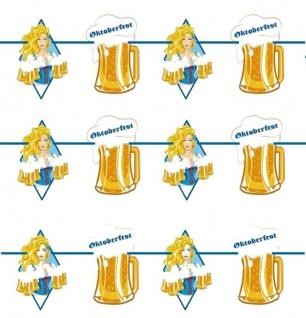 10 M Girlande Wimpelkette Banner Bayern Oktoberfest Raute Bierkrug Motive # 1494