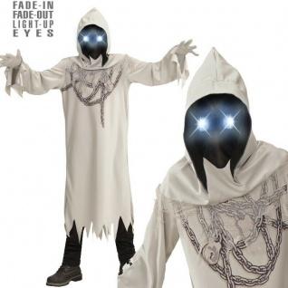 GEIST in Ketten mit leuchtenden Augen Gr. 158 Kinder Kostüm Tod Halloween #888