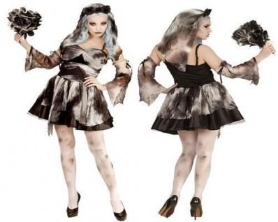 TEUFELSBRAUT ZOMBIE BRAUT Damen Kostüm Vampir Halloween 34 36 38 40 42 44