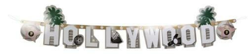 Hollywood Buchstaben Girlande 135 cm - Film Motto Party Deko