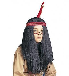 KINDER INDIANER PERÜCKE Indianerin Indianerperücke Kostüm Karneval Zubehör 6293