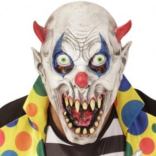 CLOWNMASKE Horror Clown Clownsmaske ES Teufelsclown Killer (0399)