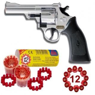Western DENVER CHROM Pistole + 240 Schuss Munition Kinder Spielzeug Revolver