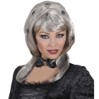 Perücke Spiderlady mit Spinnen Halloween Kostüm Zubehör Karneval Zubehör #5946