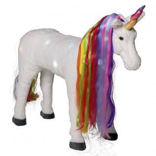 Happy People 58063 EINHORN Pferd Plüschpferd mit Licht & Sound 100 kg tragkraft