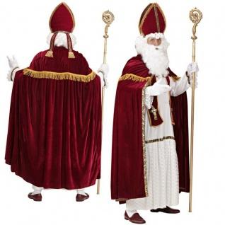 TOP SET 5-tlg. Nikolaus Weihnachtsmann Bischof Kostüm in Profi Qualität bis XXXL