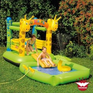 Wehncke Giraffe Hüpfburg Planschbecken Pool mit Rutsche Spielhaus Wasserrutsche