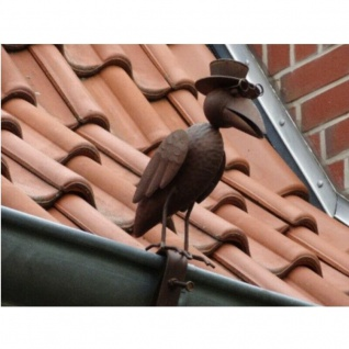 Dr. Rabe Dachrinnen- & Zaunfigur Kupferlook Blickfang Metall Dach Zaun Figur