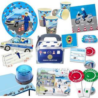 POLIZEI Party Deko Kinder Geburtstag - Mega Auswahl - Police Blaulicht Policia