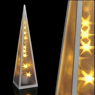 LED Hologramm Pyramide Stern Effekt rotierend 3D Projektor Lichtpyramide #6158