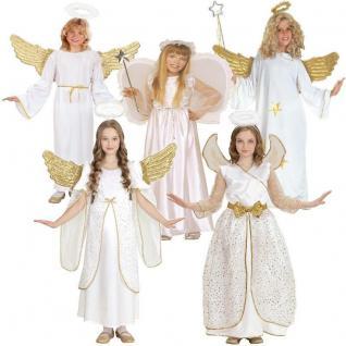 ENGEL Kinder Kostüm für Mädchen Größe 104 bis 164 - Weihnachten Engelskostüm