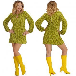 70er HIPPIE Girl GROOVY LADY Retro Kleid Damen Kostüm Flower Power Schlagermove