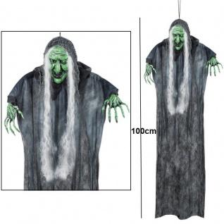 XXL böse Hexe Horror Frau ca.100 cm Halloween Hängedeko Raumdeko Hexe #7302