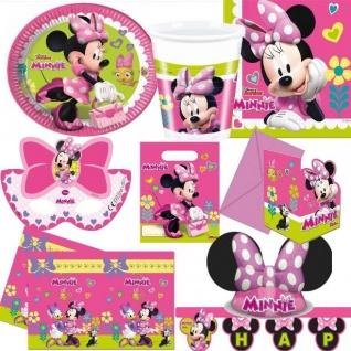 MINNIE MAUS Party Deko - Alles zum Kinder Geburtstag - Motto Party Disney Mickey