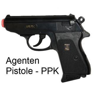 PPK Special Agent Kinder Spielzeug Knall Pistole Fasching Karneval