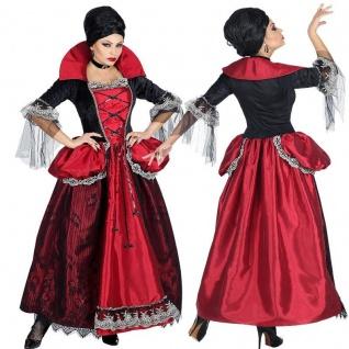 exclusives VAMPIR Gräfin Damen Kostüm Kleid mit Unterrock & Reifrock+Halsband