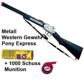 PONY EXPRESS Western Gewehr mit 1000 Schuss Munition Kinder Spielzeug Cowboy
