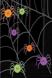 HALLOWEEN Tischdecke Spider Spinnen Dekoration Party Feier