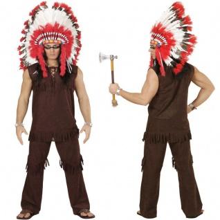 INDIANER HÄUPTLING Herren Kostüm - Karneval Fasching Verkleidung 48 50 52 54