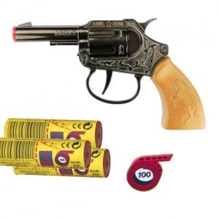 SCOUT Western Knall-Pistole mit 3000 Schuß Munition Kinder Spielzeug Revolver