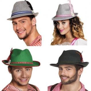 Trachten Hut Oktoberfest Tiroler Hut mit Feder - Damen und Herren Kostüm Zubehör