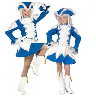 Funkenmariechen Tanzmariechen Garde Uniform Partner Kostüm Damen Mädchen blau