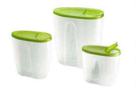 Schüttdosen Aufbewahrungdosen Dosen für Cerealien Inhalt ca. 5, 0/ 2, 8/ 1, 5 ltr.