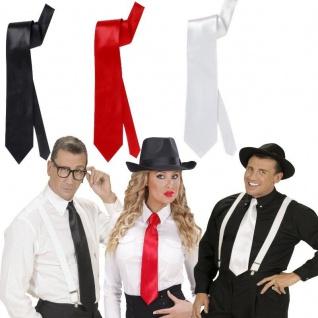 SATIN KRAWATTE schwarz, weiss oder rot - Kostüm Zubehör Motto Party Auswahl