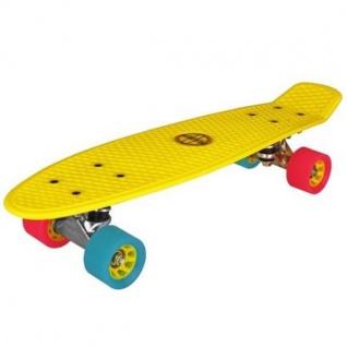 Nijdam® Retro Skateboard Gelb Komplett Board Penny Minicruiser Mini Cruiser 52NF