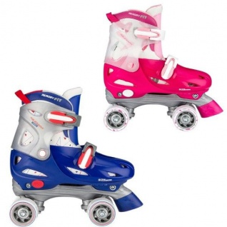 Kinder ROLLSCHUHE Rollerskater Größe verstellbar 27 28 29 30 31 32 33 34 35 36