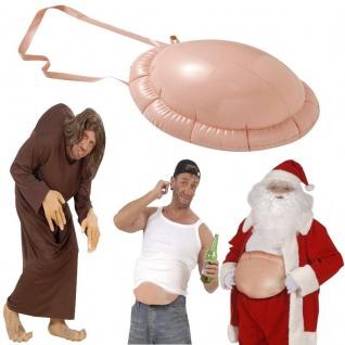 BUCKEL AUFBLASBARER BAUCH für Hexe, Buckliger, Weihnachtsmann, dicker Bauch,