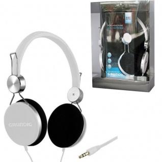GRUNDIG Original STEREO KOPFHÖRER -weiß- Cool Color 105dB TV Heim-Audio MP3