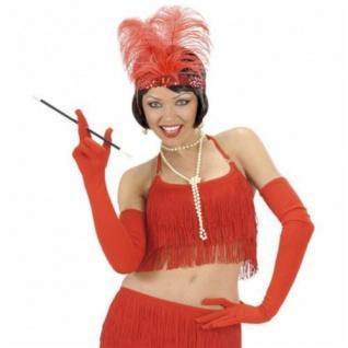 LANGE ROTE HANDSCHUHE 60 cm Karneval Charleston Party Kostüm Zubehör 3421