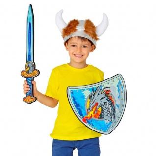 Wikinger Krieger Set - Drachen Schwert & Schild - Schaumstoff Kinder Spielzeug