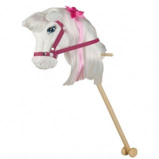 Happy People 58059 - Barbie Majesty Steckenpferd am Stiel 85 cm groß mit Sound