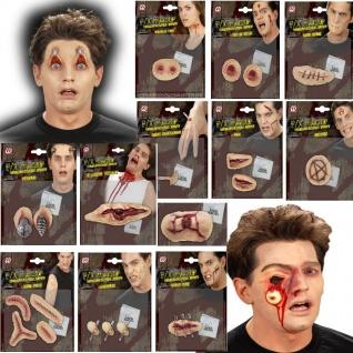 3D Grusel Effekt Make Up Schminke - WUNDEN - Halloween Bruch Riss Narben Schuss