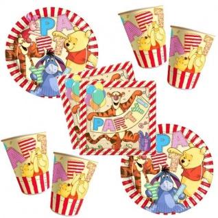 Winnie the Pooh II Party Becher Servietten Pappteller Kinder Geburtstag 52 tlg.
