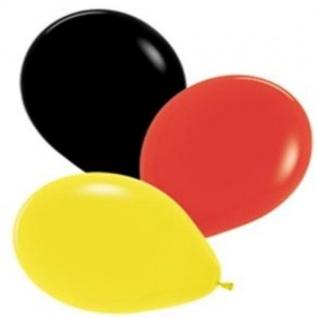 12x Luftballons Schwarz Rot Gold Deutschland Fan Artikel Deko WM+EM #769-34