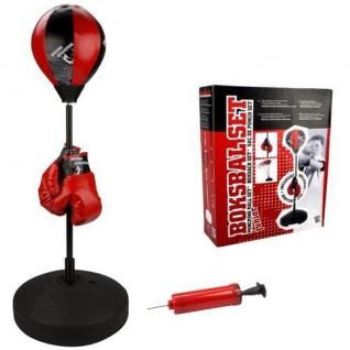 Kinder Stand-Boxtrainer mit Boxhandschuhen - Reflex Boxball - Punchingball