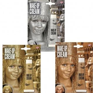 Make-Up CREAM 28ml Tube Schminke GOLD, SILBER oder BRONZE WIDMANN-Cosmetics