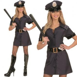 POLIZISTIN POLICE GIRL Kostüm Damen Polizei Uniform Kleid m.Hut. XL 46/48 #7723