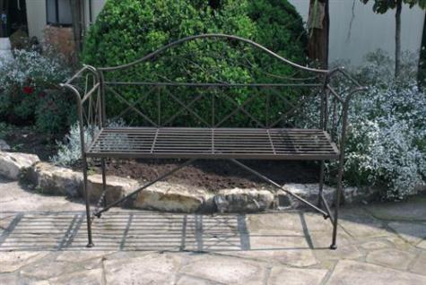 "Metall Gartenbank "" Paris"" 2-Sitzer Bronce 135cm Sitzbank Parkbank 221"