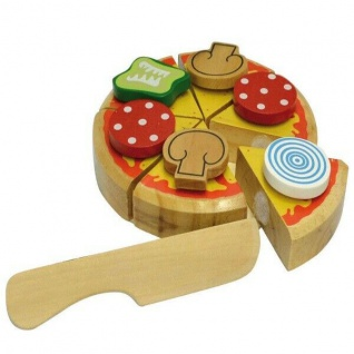 Happy People 45020 Pizza auf Holzbrett zum Schneiden Spielzeug Lebensmittel