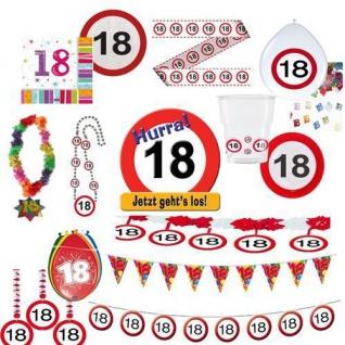 Party Dekoration 18. Geburtstag Verkehrsschild Tischdeko Schild Jubiläum 18